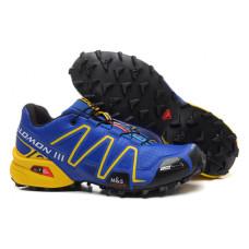 Salomon Speedcross 3 синий с желтым